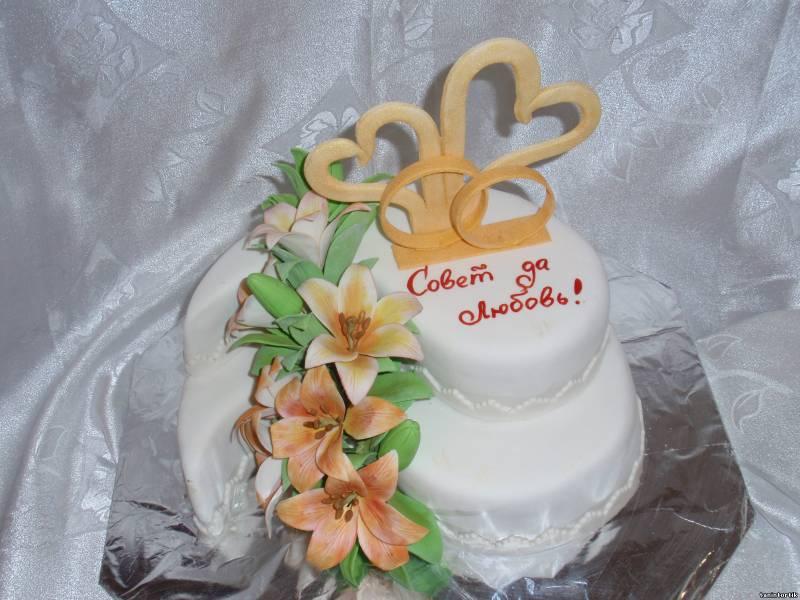 Торт с лилиями свадебные торты
